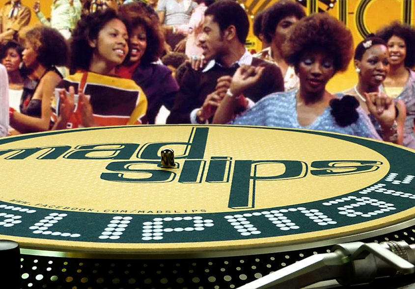 DJ Slipmats on turntables