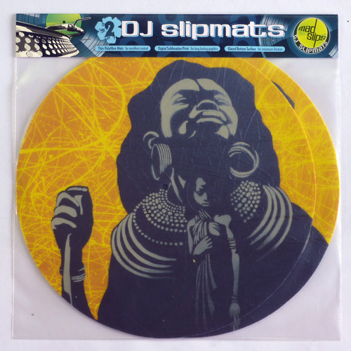 African queen, child, stencil, slipmats