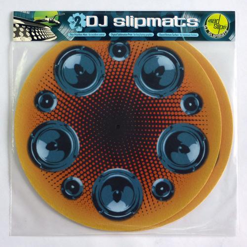 Speakerball DJ slipmats in packaging
