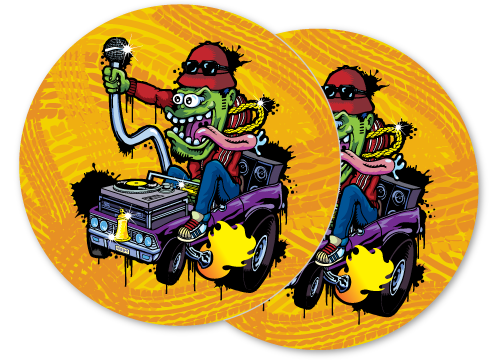 big daddy illustration DJ slipmat