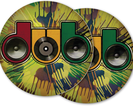 dub reggae camo drip DJ slipmat