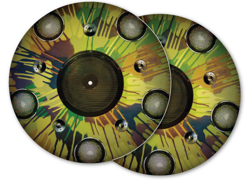 camo spakers DJ slipmat